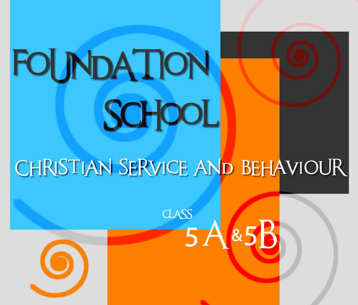 FOUNDATION SCHOOL CLASS 5