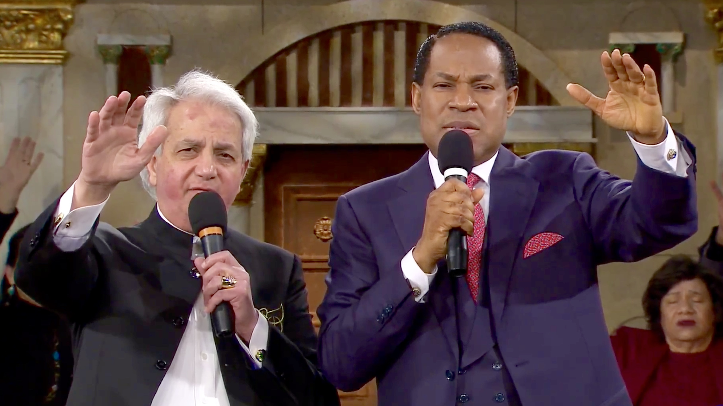 Pastor Chris and Pastor Benny Hinn Bless Congregation and the United States