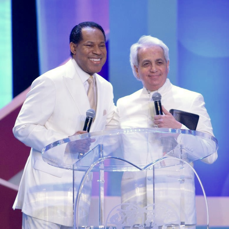 Pastor Chris and Pastor Benny Hinn