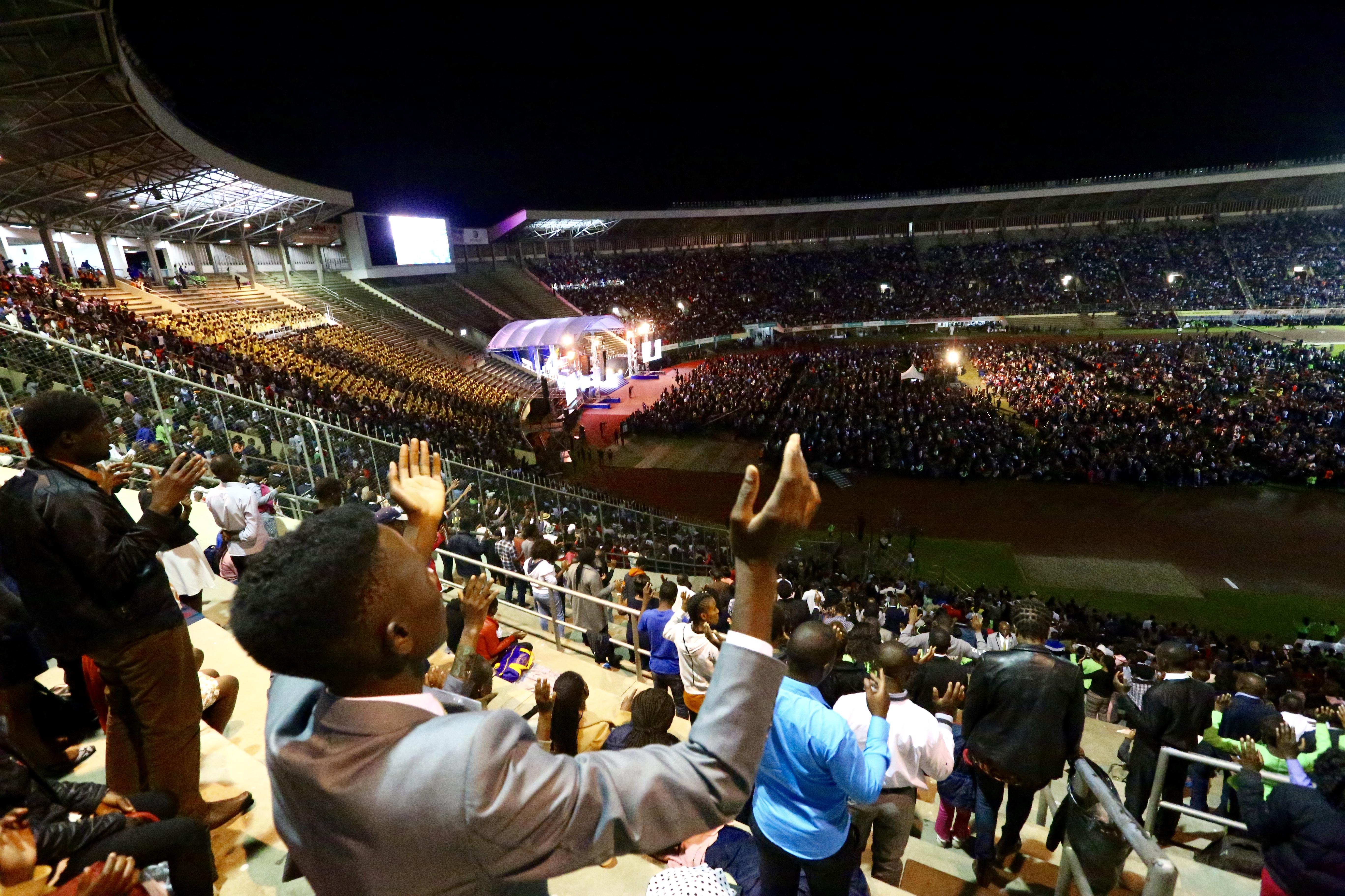 Zimbabwe worships with Pastor Chris